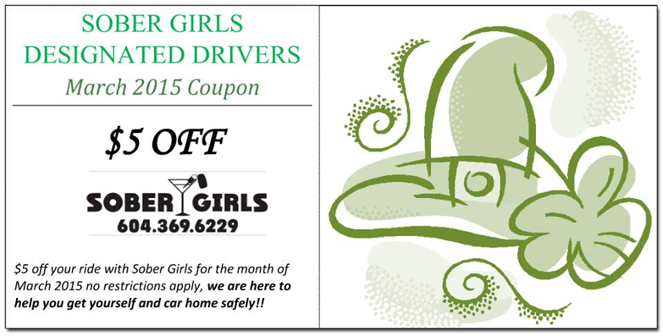 Sober Girls Designated Drivers - Saint Patrick's Promotion