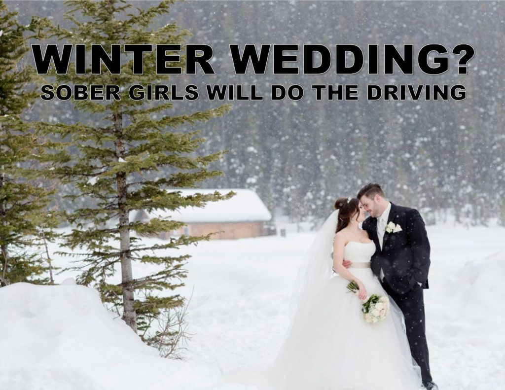 Winter Wedding Designated Driver Promotion