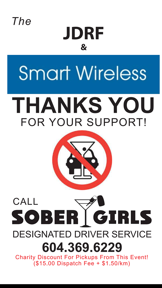 The JDRF Event uses Sober Girls