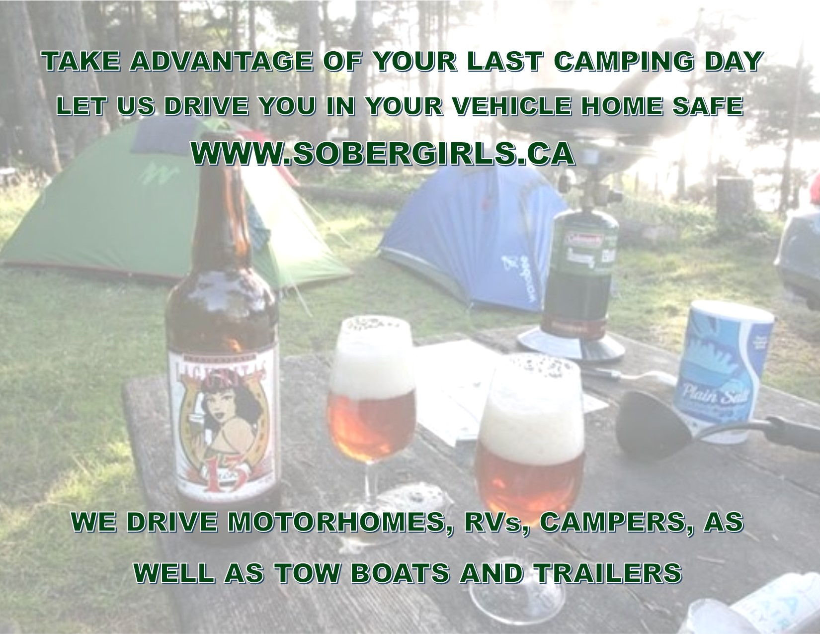 Drinking and Camping? Call a Designated Driver